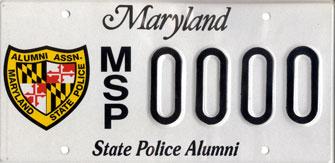 MSP Alumni License Plate Image